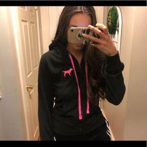 Victoria's Secret PINK Black Zip-Up Hoodie